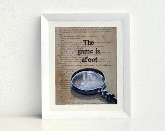 Sherlock book page art print