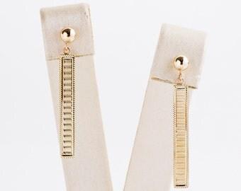 Antique Earrings - Antique 14k Yellow Gold Conversion Dangle Earrings