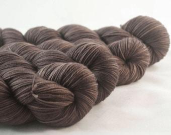 Hand Dyed Aussie Sock Yarn Brown