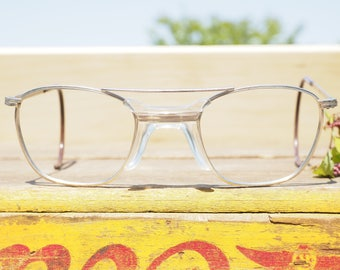 Vintage Eyeglass 1970's Safety Glasses All metal Frames new Old Stock By American Optical Made In USA Cable temples Hipster steampunk