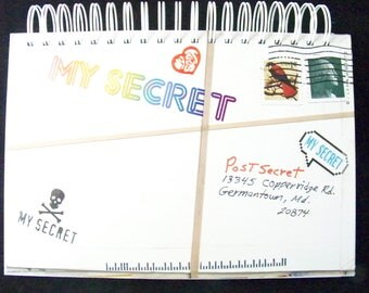 Post Secret blank book journal diary planner altered book