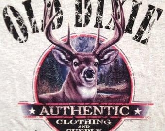 Whitetail deer on tan T shirt, deer t shirt