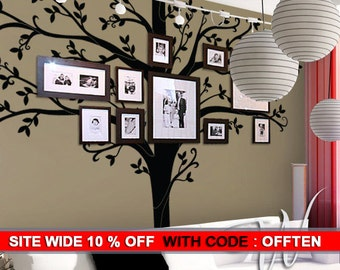 Wall decal Tall Family Tree Wall Decal  - Wall Decor