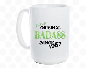 30th birthday for men, 30th birthday gift for man, 1987, 30th birthday mug, 30th birthday for him, husband birthday gift, boyfriend birthday