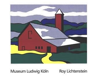Roy Lichtenstein-Red Barn II (Lg)-1989 Serigraph
