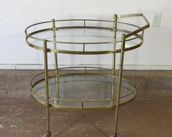 Vintage Russell Woodard Orleans Bar Cart By