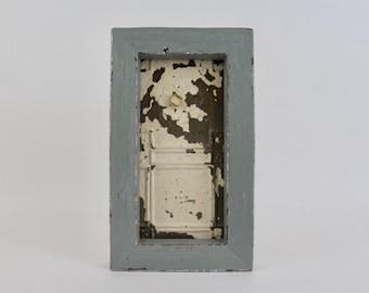 Framed Ceiling Tin Wall Decor Handmade with Reclaimed Wood