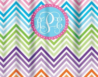 Personalized Shower Curtain-Design your own-Printed Shower Curtain, NOT embroidered, chevron, polka dots, quatrefoil, boys, girls, kids