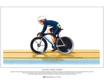 Laura Trott, Omnium Winner, Rio Olympics 2016 Limited Edition Print A3 size
