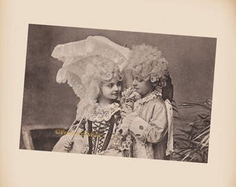 Children As Marquis And Marquise - New 4x6 Vintage Postcard Image Photo Print - CE258