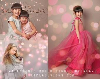 Valentines Bokeh Photo Overlays for Photographers, Creative Photo Overlays, Valentine's Day overlays, Bokeh Overlays