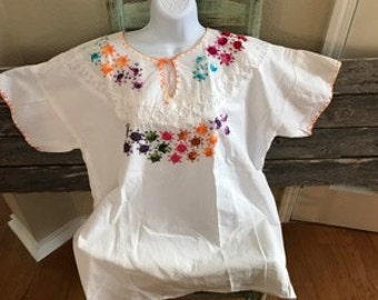 Authentic Traditional Mexican Hand Embroidered Sun Design XL