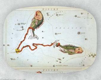 Pisces constellation melamine platter