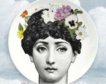 flower child III Cavalieri melamine plate