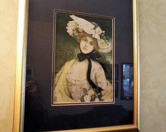 Framed Gibson Girl