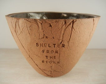 Bob Dylan - Shelter From The Storm - Pottery Bowl / Song Lyric Art / Song Lyric Pottery / Music Lyric Art / Music Pottery / Dylan Lover Gift