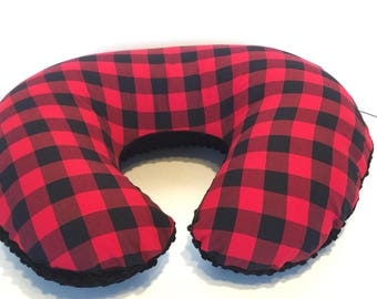Buffalo Plaid Boppy Cover With Personalization Option