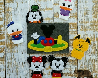 Mickey mouse clubhouse puppets / finger puppets / felt toys/ quiet play