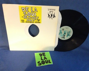 "RARE, Vintage, De La Soul - ""Me Myself and I / Brain Washed Follower / What's More"", Vinyl LP Record Album, Original First Press"