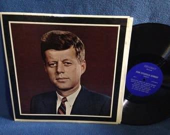 "Vintage, John Fitzgerald Kennedy - ""1917-1973 A memorial Album"" JFK,  Vinyl LP, Record Album, His Most Famous Speeches, and Public Speaking."