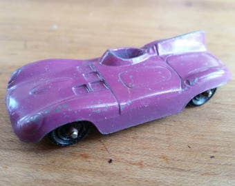 Vintage tootsie toy jaguar,  vintage metal toy car , tootsie toy ,  purple jaguar toy car