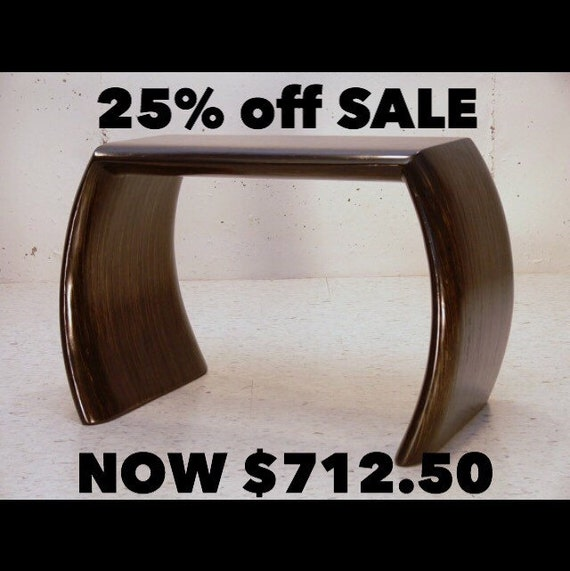 SALE 712.50 IDEA BENCH: Wood Bench,Stool,End Table,Black,Ebony,Accent,Mid-Century,Sculpture,Art,Handcrafted furniture,Desinger,Contemporary