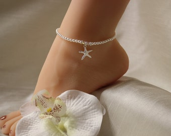 Starfish Anklet Pearl Beach Jewelry Bridal Anklet Wedding Anklet Beach Wedding Jewelry