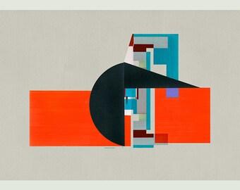 MId Century Modern art, Architectural Print, Geometric Art, Minimalist Art, Wall Art, Abstract Art Print - LImited edition (20)