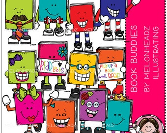 Book Buddies clip art - Combo Pack
