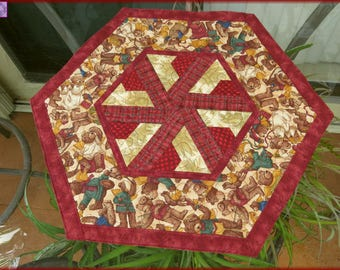 Quilted Christmas Table Topper Joyful Angels 182