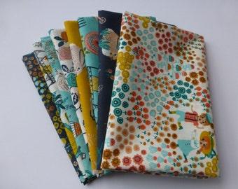 Organic Cotton Fabric - 8 Fat Quarter Bundle -  Birch Fabrics, The Hidden Garden