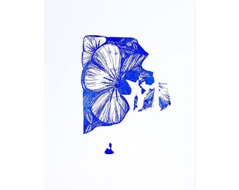 Letterpress Rhode Island Violet