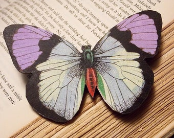 Wooden Butterfly Statement Brooch