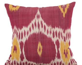 20 x 20 Pillow Cover Ikat Pillow Cover Old Ikat Pillow Cover Throw Pillow Decorative Pillow FAST SHIPMENT with ups or fedex - 09166