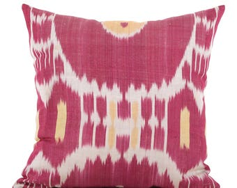 20 x 20 Pillow Cover Ikat Pillow Cover Old Ikat Pillow Cover Throw Pillow Decorative Pillow FAST SHIPMENT with ups or fedex - 09162
