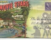 Vintage 1939 Homes of Movie Stars Postcard Book Shirley Temple Bette Davis