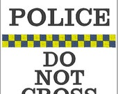 Embroidery Design - Police - Do Not Cross - 4x4, 5x7,  Multi Formats