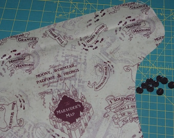 Baby One-Size Pocket Diaper / OS Cover / Swim Diaper in Beige Wandering Feet/Map PUL - Custom Order