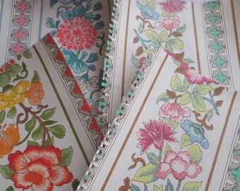 Vintage Wallpaper Sheets//Scrapbooking//Dollhouse Wallpaper