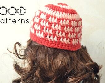 Crochet beanie pattern, hat crochet pattern, crochet pattern hat, unisex hat pattern, 5 sizes, Cyrus beanie, Pattern No. 50