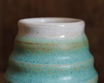 Small Bud Vase // Turquoise Vase // Pottery Flower Vase
