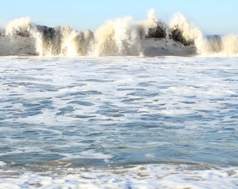 Beach Photo Print - Fine Art Photography - Ocean Waves - Tropical Beach House Decor - Size 8x10, 5x7, or 4x6