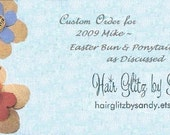 Custom Order for 2009Mike - Easter Bun & Ponytail Wrap as Discussed - Special Order - Light Purple Ivory Bun/Ponytail Wrap - Lilac Ivory