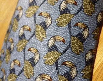Toucan Bird silk necktie by Tropical Americana