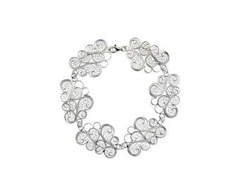 Sterling silver filigree cloud bracelet 2