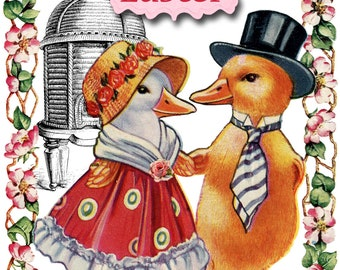 Easter Card | Happy Easter | Vintage Style | Easter Chicks | Blank Card | Easter Greetings