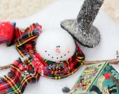 Melting Snowman, Snowman with Frosty Book, Snowman Ornament, Frosty the Snowman