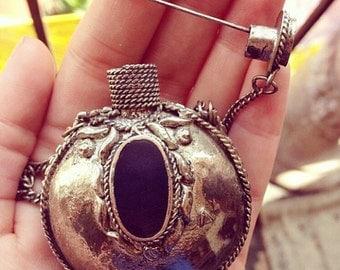 Rare Vintage Tribal Potion Poker Flask Necklace