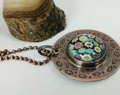 Millefiori Copper Pendant