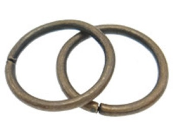 25pc 20mm large antique copper finish jump rings-FR8